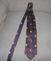 VINTAGE 1994 LOONEY TUNES MANIA MENS TIE MARVIN THE MARTIAN TAX DAFFY TW... - $23.50