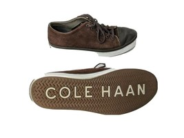 Cole Haan Mens US 7M Brown Suede Low Fashion Sneakers - $22.21