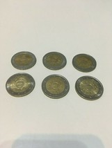 Set of 6 Euro 2 Commemorative Coins Mixed 2012 - $19.79