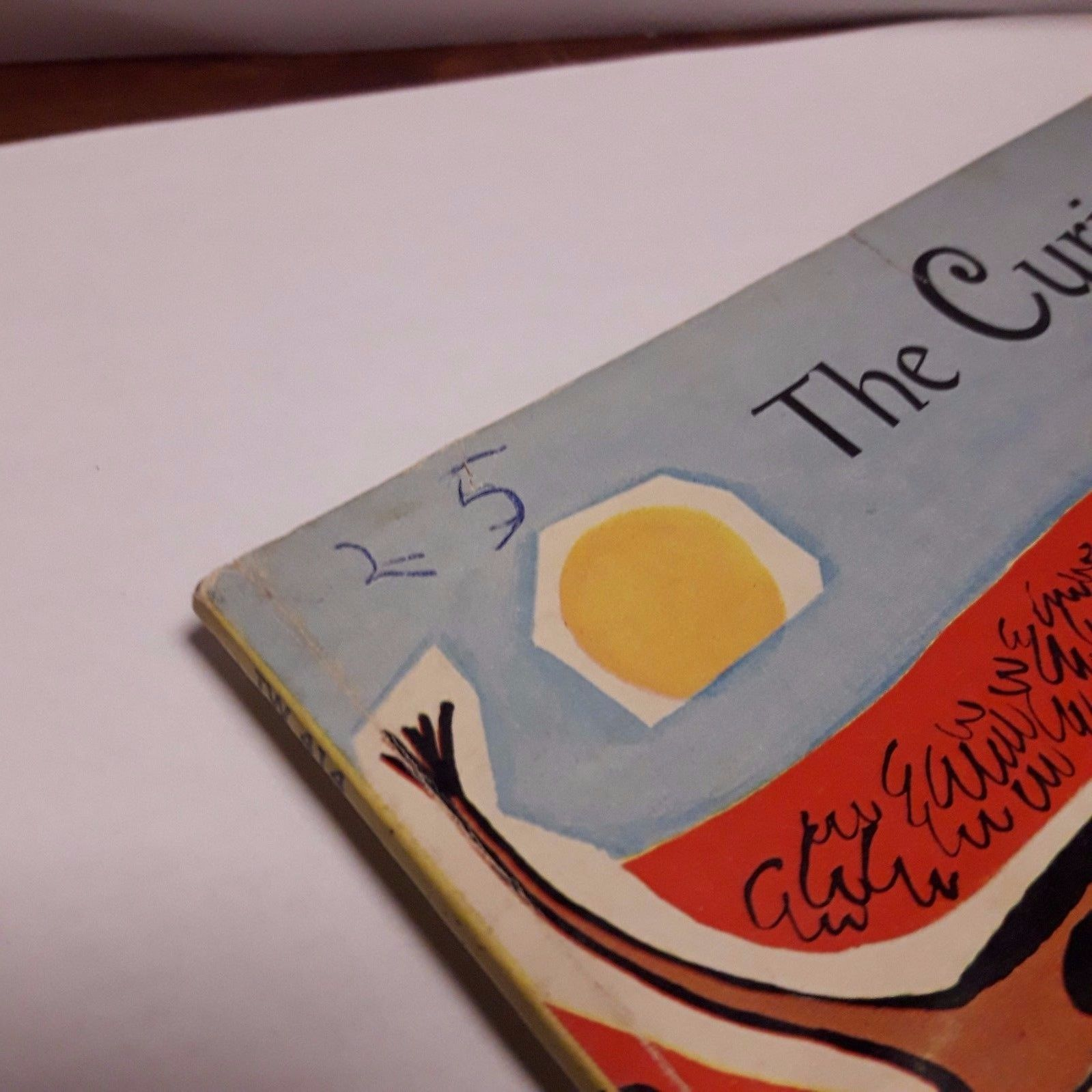 Vintage 1960 The Curious Cow Esther Meeks Picture Book PB 4th Scholastic TW414