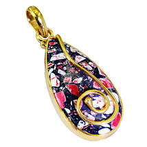 captivating Turquoise Gold Plated Multi Pendant genuine supplies US gift - $19.79