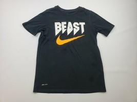 Nike Dri-fit Boys T-shirt Size L Black QE10 - $11.87