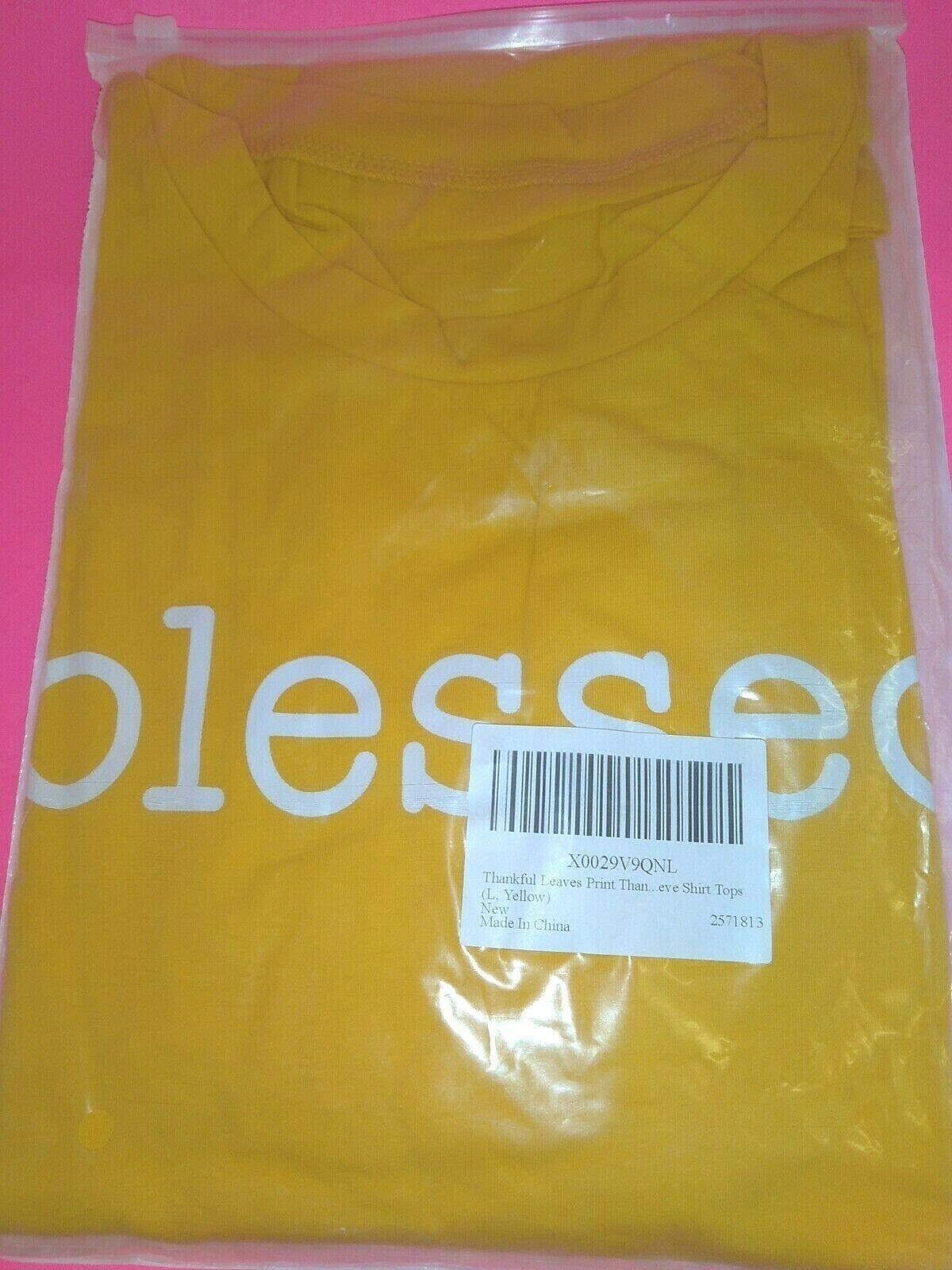 Fall Autumn Blessed Yellow Bella Canvas Womens T Shirt Christian Faith  (sizes)