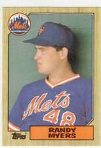 #213 Randy Myers 1987 Topps Baseball - $1.50