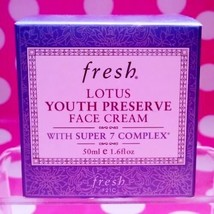 FRESH LOTUS YOUTH PRESERVE FACE CREAM WITH SUPER 7 COMPLEX 1.6 OZ -AUTHE... - $73.43 CAD