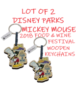 Disney EPCOT Chef Mickey Mouse Food & Wine Collectible Wood Key Chain Ring   - €8,72 EUR