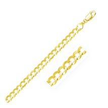7.0mm 10k Yellow Gold Curb Bracelet Quality Jewelry Unique Stylish - $742.80