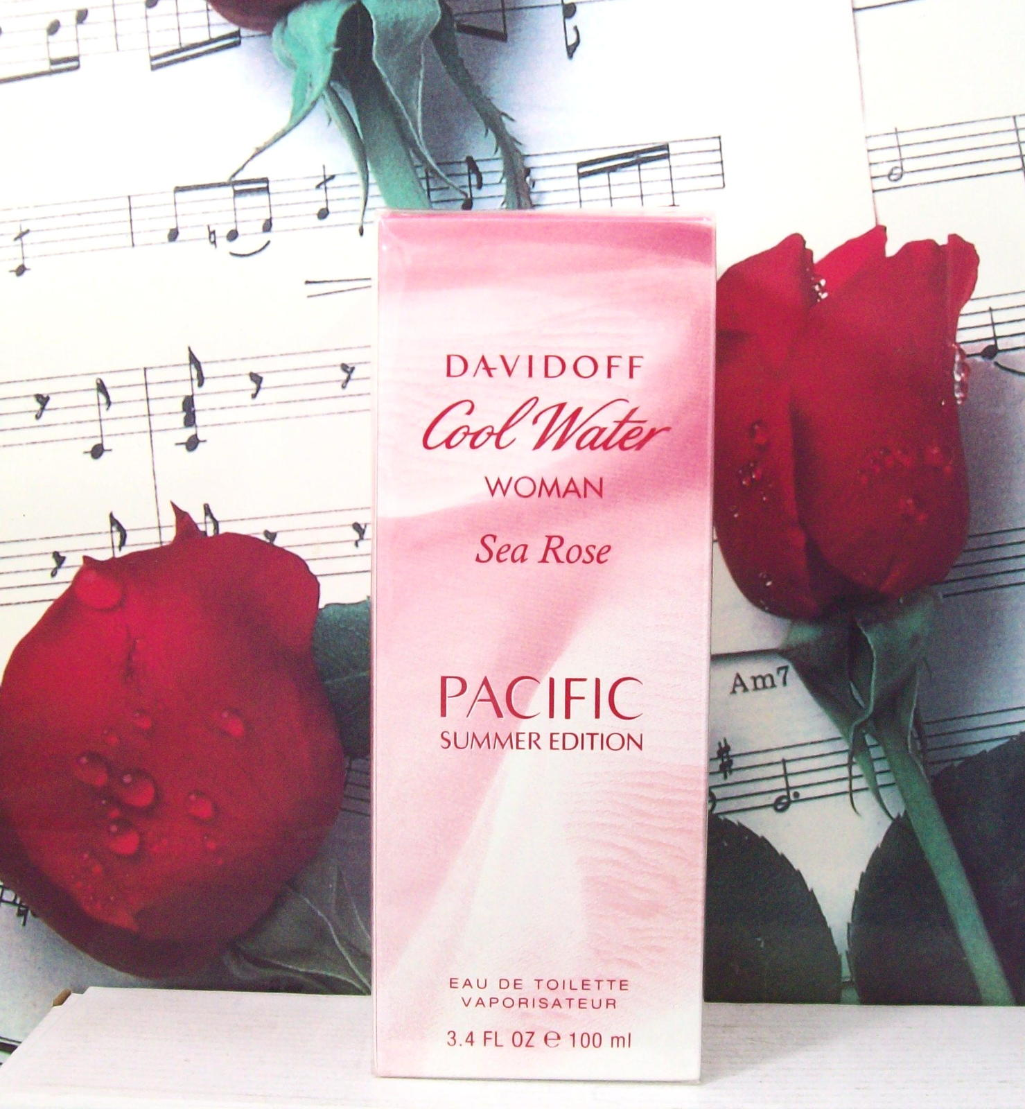 Primary image for Davidoff Cool Water Woman Sea Rose Pacific Summer Edition EDT Spray 3.4 FL. OZ.