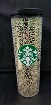 Starbucks Holiday 2020 16oz Black/Gold Multi Bubble Hot Tumbler In Hand - $29.95