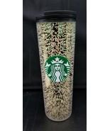 Starbucks Holiday 2020 16oz Black/Gold Multi Bubble Hot Tumbler In Hand - $29.95
