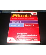 Pack of 3 Filtrete 3M Eureka OX, Electrolux S & Sanitaire S Filter #67710A - $9.89