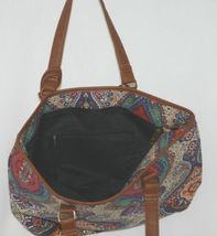 Howards Product Number 68985 Large Shoulder Bag Multi Color Paisley Print image 3