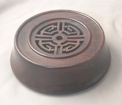 """4.75"""" Oriental Chinese Rosewood Lid Cap Cover for Jars and Vases - $40.43"""
