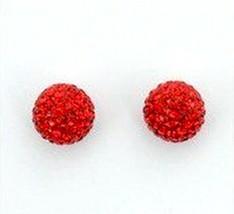 AUTHENTIC SWAN SIGNED SWAROVSKI POP SIAM RED PIERCED EARRINGS 1106425 NIB - $70.00