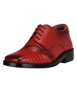 LibertyZeno Lizard Print Square Toe Style Big Boys Shoes(age 8-12 years)-chester - $38.99
