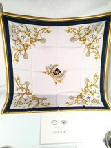 Wimbledon Silk Scarf England Lawn Tennis Vintage Head Square Made In Italy - $123.74