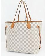 Authentic LOUIS VUITTON Neverfull MM Damier Azur Tote Bag Purse #39125 - $999.00