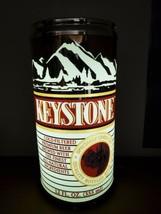 "VINTAGE LARGE KEYSTONE BEER CAN 27"" TALL LIGHTED BAR PUB SIGN EVERBRITE ... - $127.71"