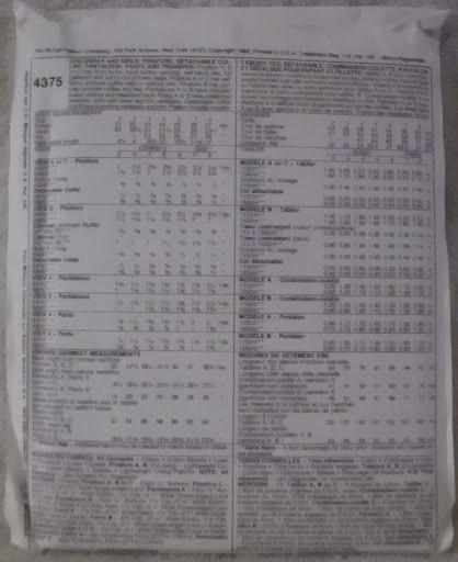 Vintage McCalls 4375 Size 6 Children Girls Kitty Benton Pinafore Pantaloon Pants