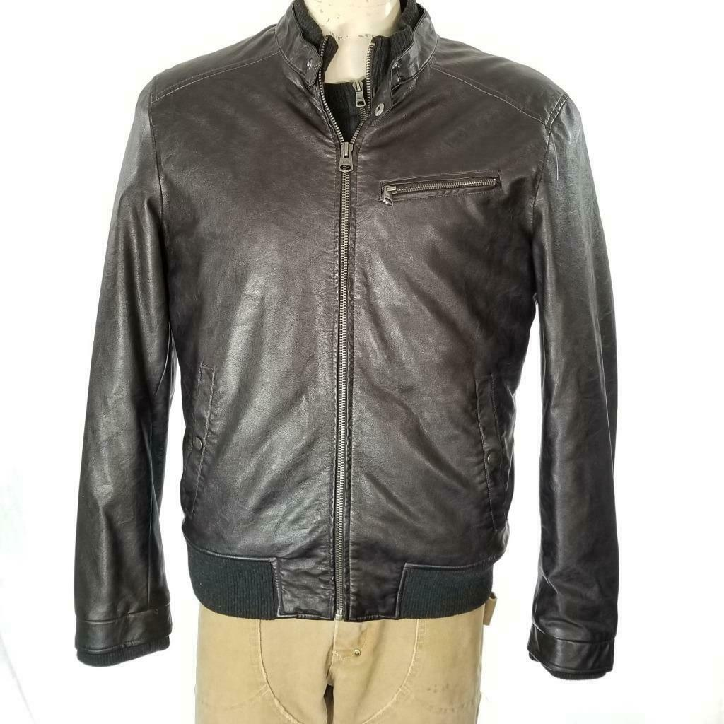 Levis Faux Leather Jacket Sz M EUC