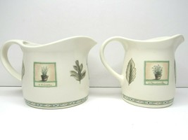2 Pfaltzgraff Naturewood Creamers Small Large Spout Pitcher Milk Syrup Gravy SET - $29.57