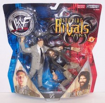 "2002 Jakk's WWE Rigside Rivals #2 ""Regal"" vs ""Foley"" Action Figure Set W... - $32.66"