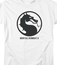 Mortal Combat X logo symbol graphic white adult t-shirt WBM416 image 3