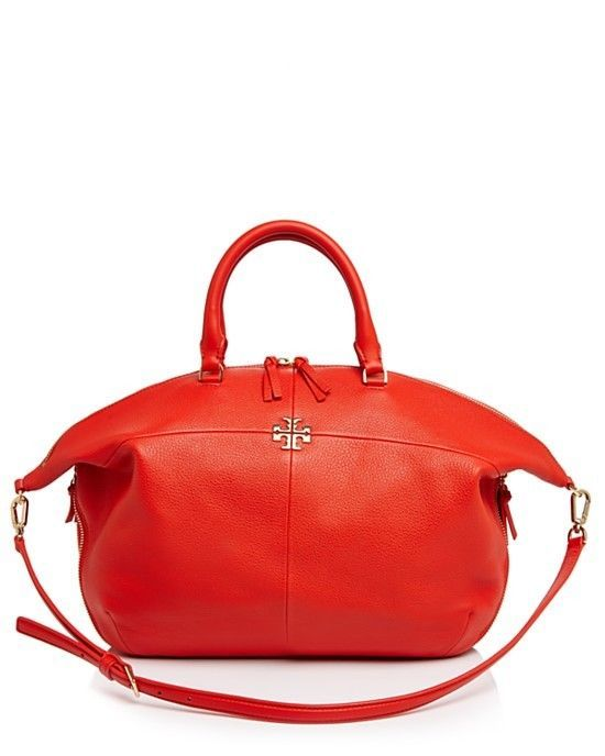 030ea82ab NWT Tory Burch Ivy Slouchy Satchel Samba Red and 49 similar items