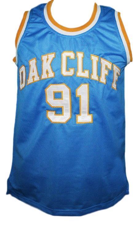Dennis rodman  91 oak cliff high school basketball jersey light blue   1