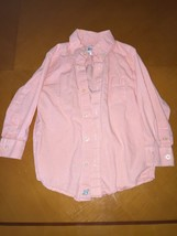 Boys Kids Children's Place Orange Plaid Long Sleeve Button Down Shirt Si... - $4.94