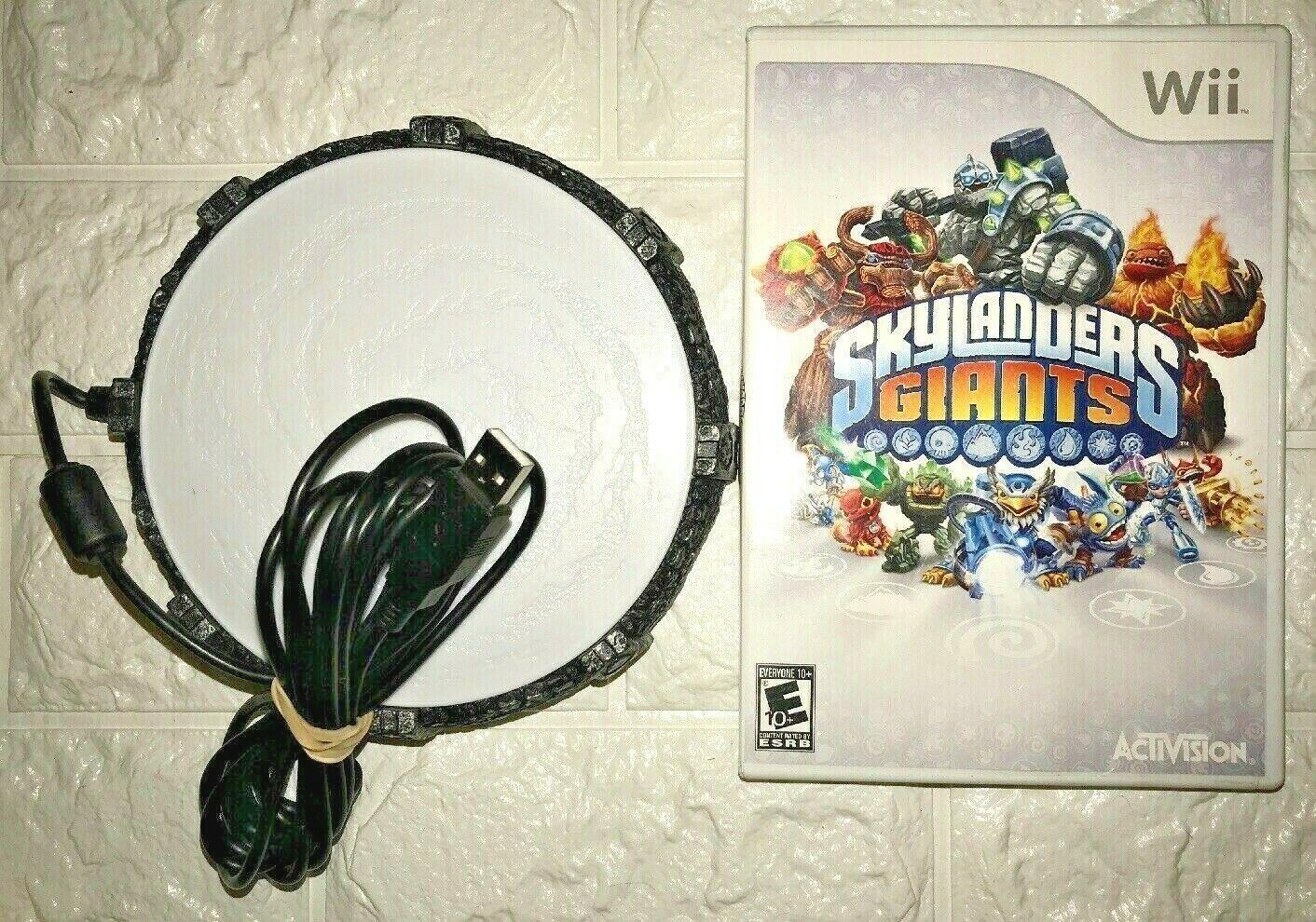 Skylanders GIANTS Nintendo Wii 2012 Game Complete W/ Disc and Portal Of Power