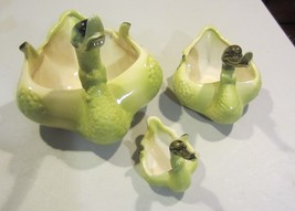 VINTAGE HULL  YELLOW AND GREEN DUCK PLANTERS - ... - $42.70