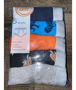 Wonder Nation ~ Boy's Briefs 5-Pair Underwear Cotton Tag Free ~ M (8) - $12.19