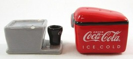 Vintage Coca Cola Salt & Pepper Shakers Shaker Set, Condition Issues, Ra... - $9.99