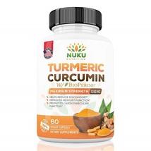 Nuku Nutrition Turmeric Curcumin with BioPerine Maximum Strength 1300mg ... - $96.99