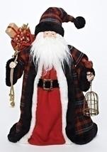 "Roman 16"" Plaid Santa with Bird and Birdcage Christmas Tree Topper - Unlit - $74.24"