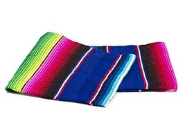 Sarape Mexican Serape Saltillo Blanket (X-large, Blue) Heavy Authentic T... - $24.74