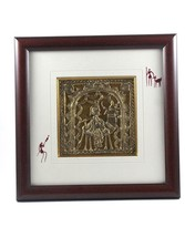 Handmade Metal Craft Krishna Dokra Art Wall Hanging Painting Size - 18/9... - $125.29