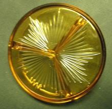 Vintage 1930-1940 Depression Amber Three Part Divided Candy/Relish Dish - $25.00