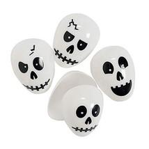 Skull Plastic Easter Halloween Eggs - 24 ct - $22.55 CAD