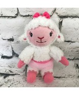 Disney Doc McStuffins Sheep Plush Ballerina Lambie White Pink Stuffed An... - $7.91