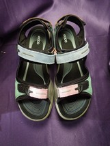 Ecco Offroad Multicolor Suede Leather Pastel Sandals - Size US 8-8.5 / E... - $118.80