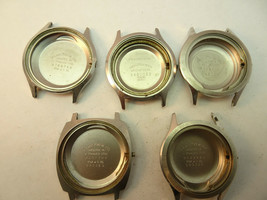HAMILTON ELECTRIC AND 1 REGULAR STEEL WATCH CASE FOR RESTORATIONS PARTS - $140.29
