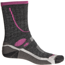 Size S 4-6.5 Lorpen Women's T3 Mid-weight Hiker Socks Crew Height Charcoal NEW