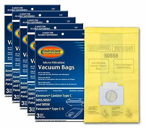 EnviroCare Replacement Micro Filtration Vacuum Bags to fit Kenmore Canister Type - $13.52