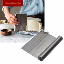 Stainless Steel Scraper for Cakes & Pizza Dough  Baking Pastry Spatula c... - ₨556.73 INR