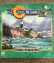 "MB Hasbro ""Montauk Point"" Lighthouse Series 1000 Piece Puzzle Rudi Reinhardt - $27.72"