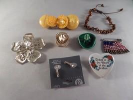 Brooches Bracelet Earrings Jewelry Lot 1M1 - $12.86