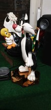 Extremely Rare! Looney Tunes Sylvester Holding Tweety Big Figurine Statue - $841.50