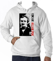 Edgar Allan Poe Poet 1 - New Cotton White Hoodie - $38.05